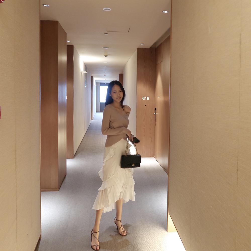 半身裙 白色不规则荷叶边蛋糕半身裙2020春秋新款气质显瘦高腰半身中长裙_推荐淘宝好看的半身裙