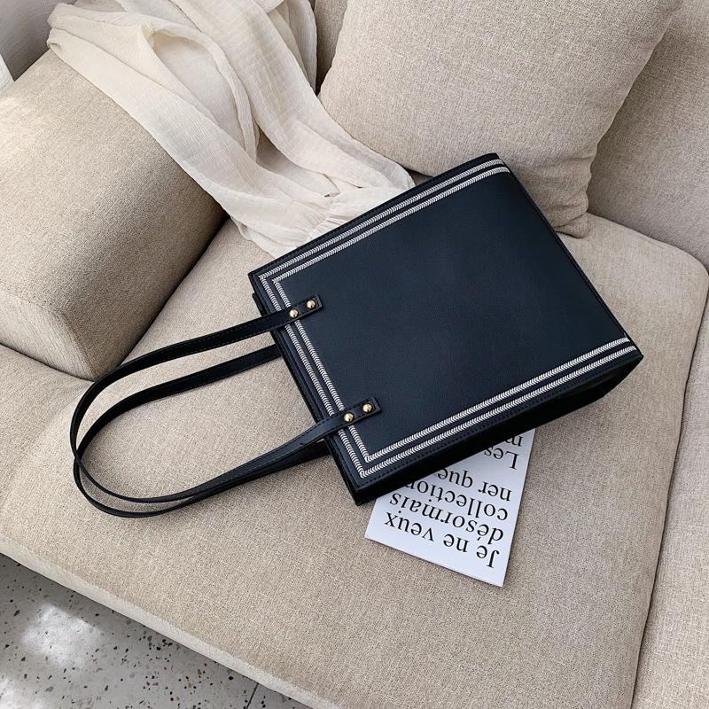 白色手提包 包包女包新款2019时尚子母包简约百搭手提包大容量通勤公文单肩包_推荐淘宝好看的白色手提包
