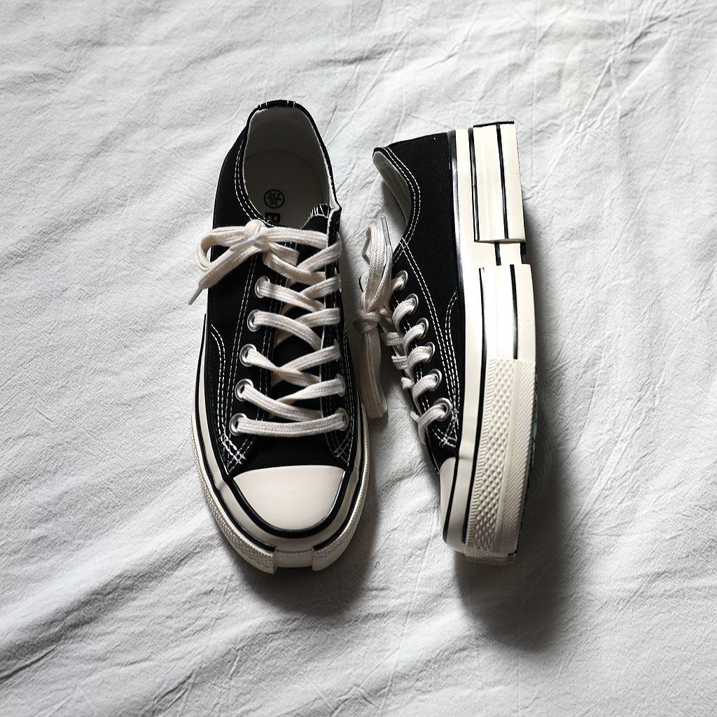 复古厚底鞋 法爷家 缺口帆布鞋设计系列 不规则设计 复古乞丐鞋板鞋女 厚底鞋_推荐淘宝好看的女复古厚底鞋