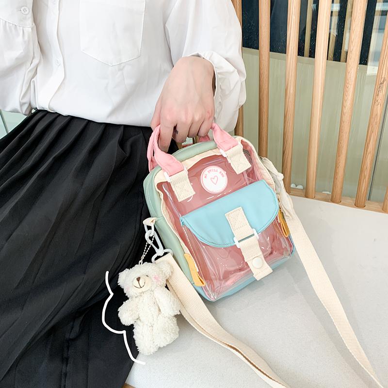 果冻迷你包 网红儿童包包迷你塑胶卡通手机包透明果冻包可爱单肩女童挎包_推荐淘宝好看的女果冻迷你包