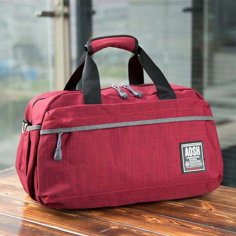 旅行帆布包 新款手提行李袋女单肩旅行包帆布包短途旅游包出行包健身包运动包_推荐淘宝好看的女旅行帆布包