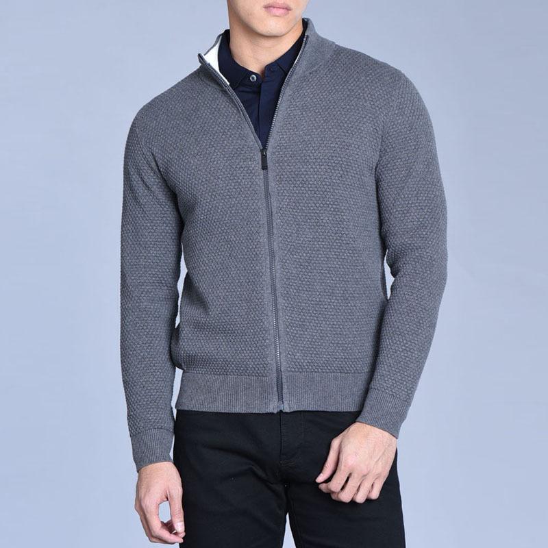 男士羊绒毛衣 天天特价 高雅商务 95%棉5%羊绒菠萝针工 男士开衫针织衫毛衣外套_推荐淘宝好看的男羊绒毛衣