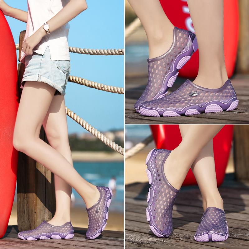 洞洞鞋 鸟巢沙滩鞋情侣款拖鞋海边带外穿沙滩凉拖洞洞鞋防滑速干溯溪鞋女_推荐淘宝好看的女洞洞鞋
