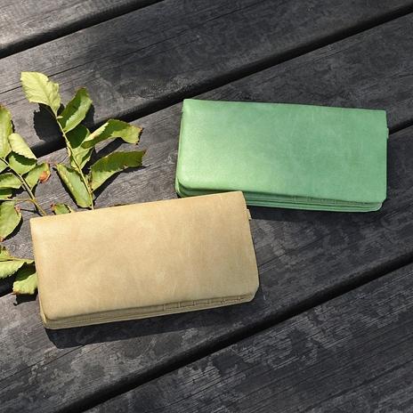 绿色钱包 森系简约多功能绿色钱包女|PU裸色长款钱夹卡包|大容量玫红色手包_推荐淘宝好看的绿色钱包
