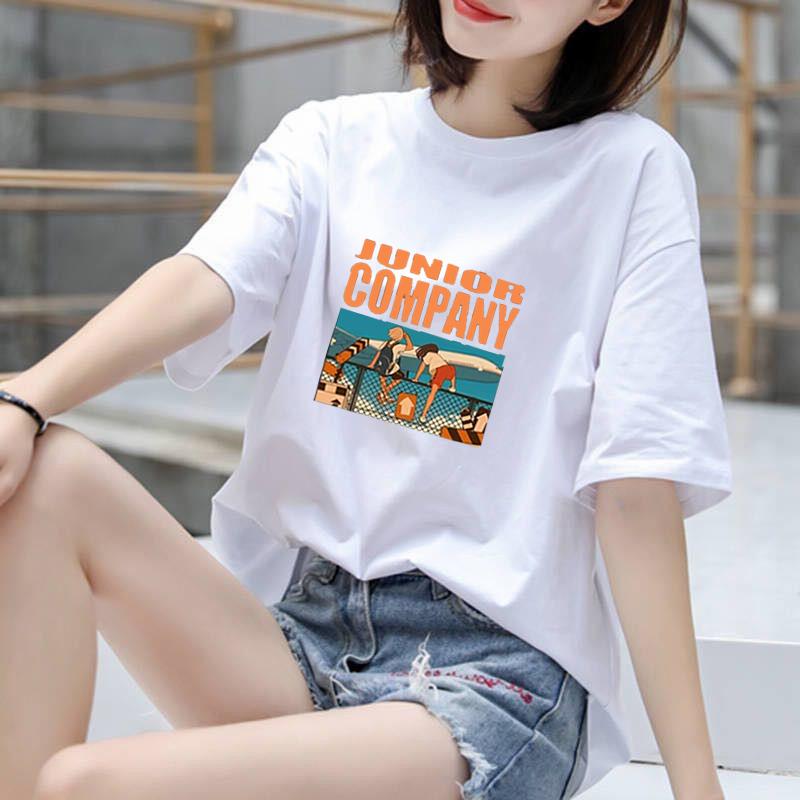 空白t恤 100%纯棉2020韩版新款夏季纯棉短袖t恤女空白版飞机_推荐淘宝好看的女空白t恤