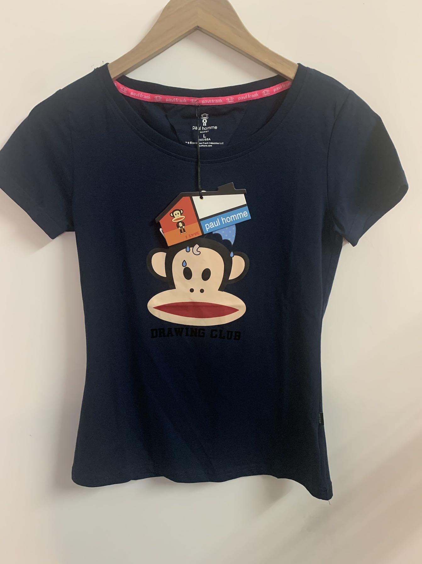女士大嘴猴t恤 2020夏季简约T恤全棉印花ins超火修身上衣大嘴猴图案短袖女_推荐淘宝好看的女大嘴猴t恤