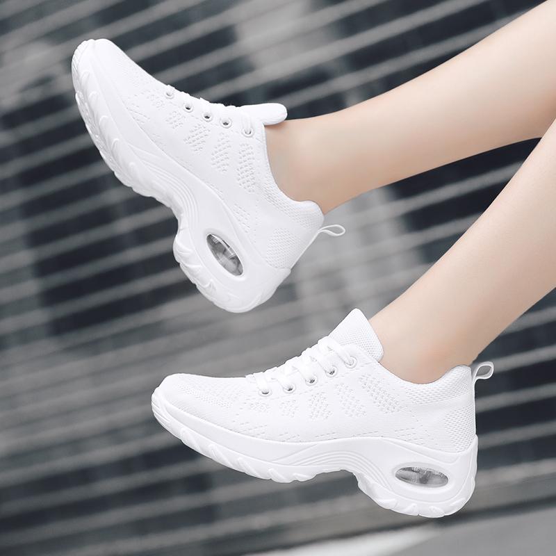 白色单鞋 白色回力女鞋跑步运动鞋春夏网面透气休闲鞋气垫旅游鞋跳舞单鞋_推荐淘宝好看的白色单鞋