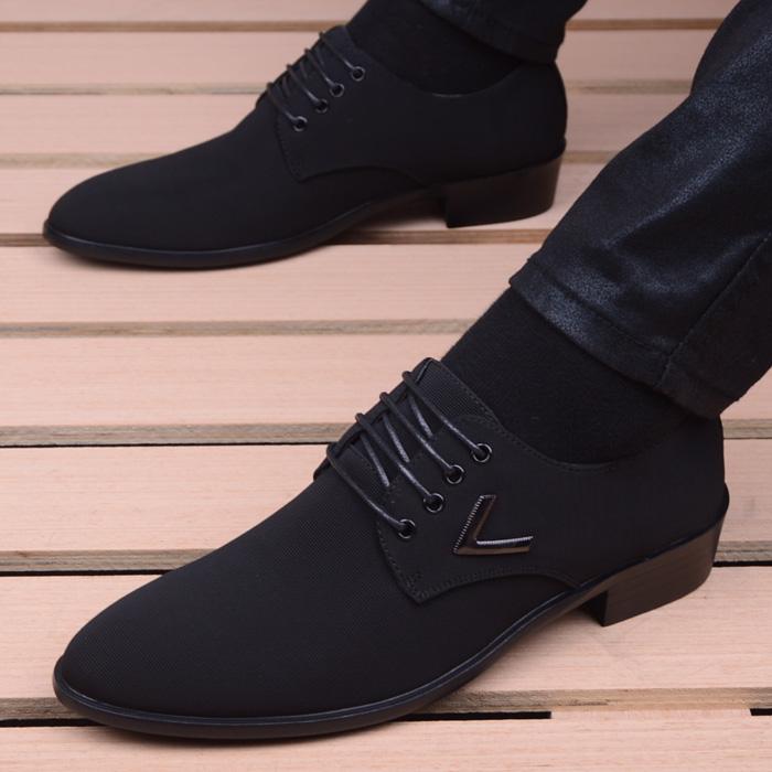 皮鞋 男士商务正装休闲皮鞋英伦尖头男式内增高布鞋韩版潮流百搭男鞋子_推荐淘宝好看的皮鞋