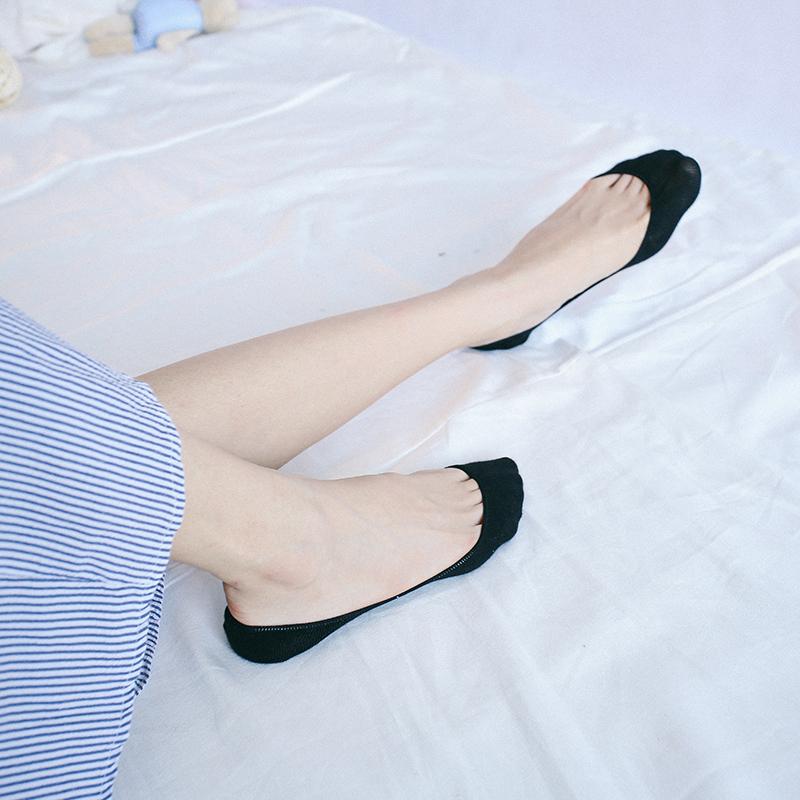 丝袜高跟鞋 夏季薄款超浅隐形袜浅口船袜 高跟鞋袜露指缝硅胶纯棉女袜_推荐淘宝好看的女袜高跟鞋