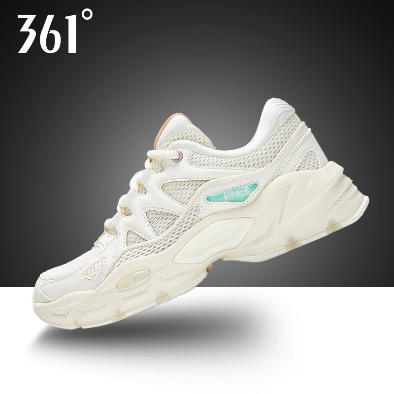 361度运动鞋正品 361运动鞋女鞋2021夏季新款老爹鞋361度春季女士网面透气休闲鞋子_推荐淘宝好看的女361度运动鞋