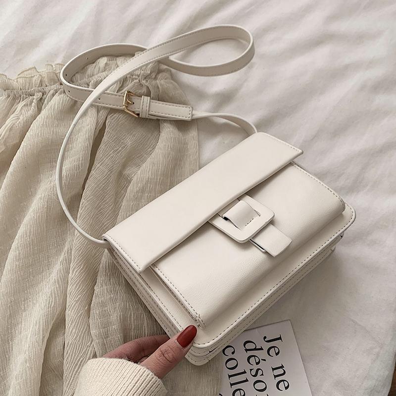 白色复古包 ins时尚复古百搭学生白色包包女2020春季新款复古质感简约斜挎包_推荐淘宝好看的白色复古包
