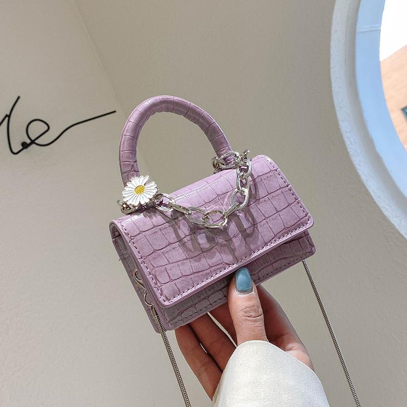 紫色糖果包 小包包2020新款潮网红高级感夏天季迷你手提链条糖果色单肩斜挎包_推荐淘宝好看的紫色糖果包