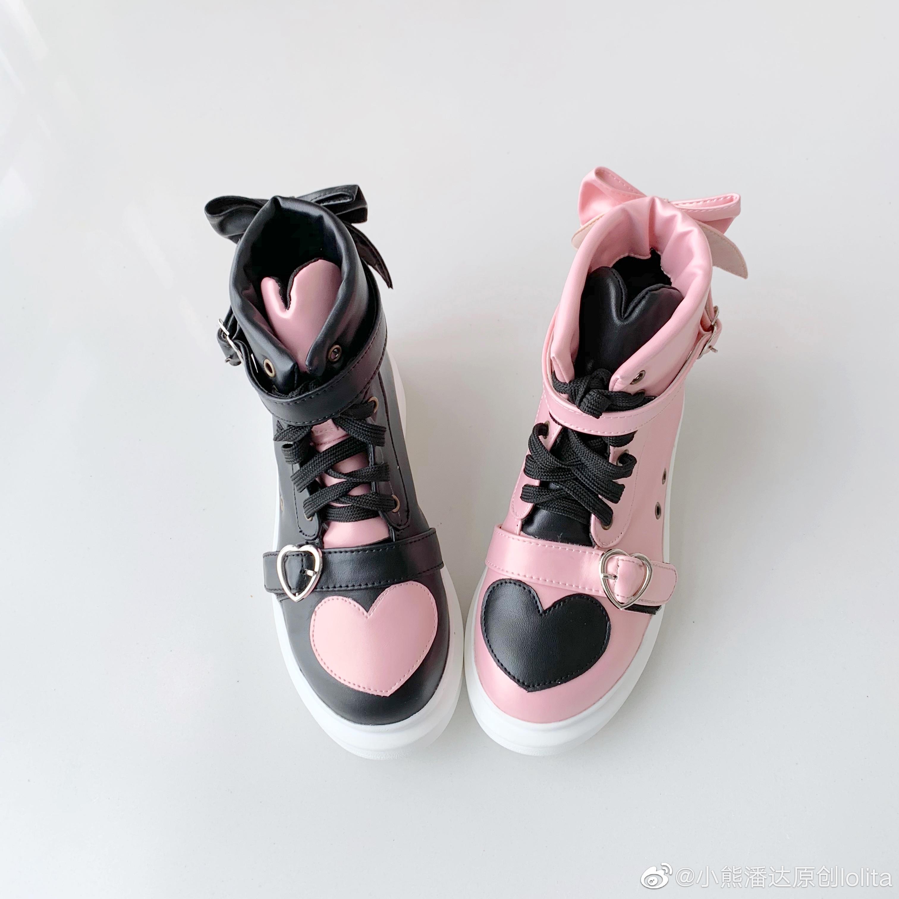 运动鞋 【尾款】小熊潘达正品原创小熊跑跑lolita鸳鸯Lo跑学生运动鞋_推荐淘宝好看的运动鞋