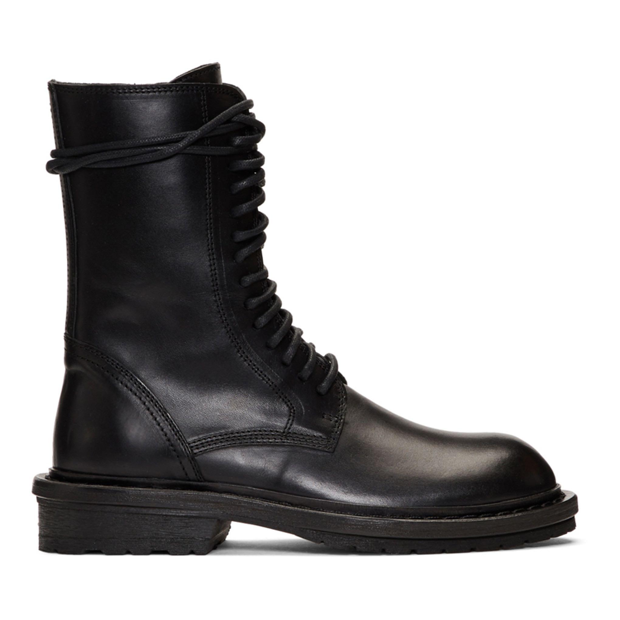 靴子 ann马丁靴平跟靴子系带加绒短靴大码定制女靴圆头机车靴短筒皮靴_推荐淘宝好看的女靴子