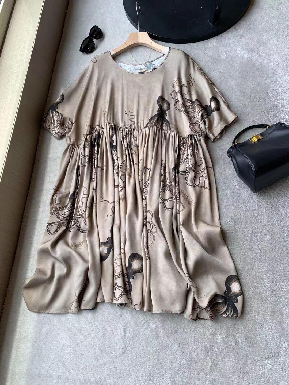 女士真丝连衣裙 外贸原单 出口欧美女装 重磅真丝拼接连衣裙_推荐淘宝好看的真丝连衣裙