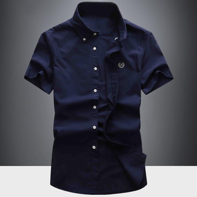 男士衬衫 衬衫男2020新款短袖夏季韩版修身潮流寸衫青年帅气男士休闲白衬衣_推荐淘宝好看的男衬衫
