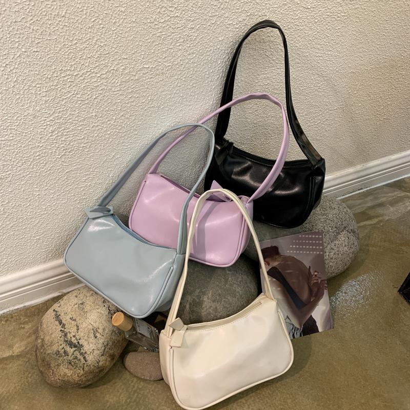 紫色复古包 包包2020新款网红紫色包包手提包复古包单肩腋下包法棍包小包女潮_推荐淘宝好看的紫色复古包