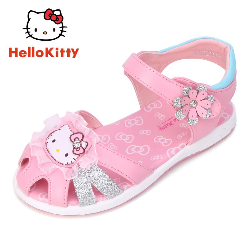 女童凉鞋 Hello Kitty童鞋夏季新款包头儿童凉鞋凯蒂猫公主鞋女童凉鞋_推荐淘宝好看的儿女童凉鞋