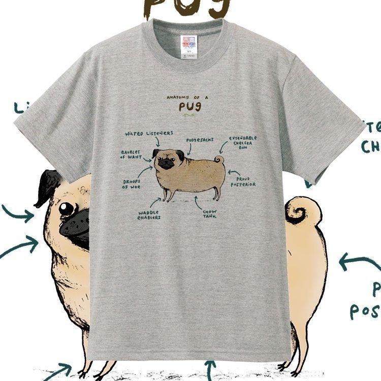情侣手绘t恤 创意趣味英文手绘狗的解析沙皮狗 腊肠犬纯棉短袖T恤情侣动物多色_推荐淘宝好看的情侣手绘t恤
