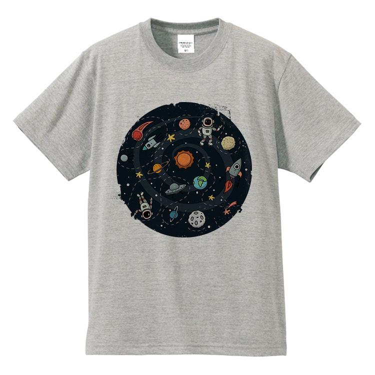 原创手绘t恤 原创卡通手绘UFO太空宇航员染印纯棉短袖T恤男女情侣亲子装包邮_推荐淘宝好看的女原创手绘t恤