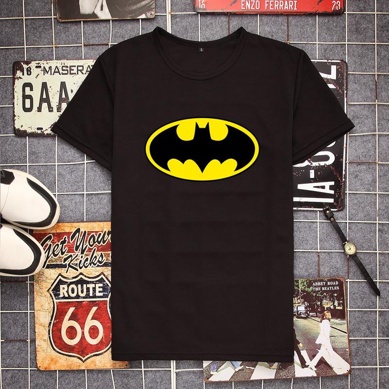 t恤男短袖 蝙蝠侠小丑哈利奎因电影周边欧美风印花男装短袖T恤衫青少年衣服_推荐淘宝好看的t恤男短袖