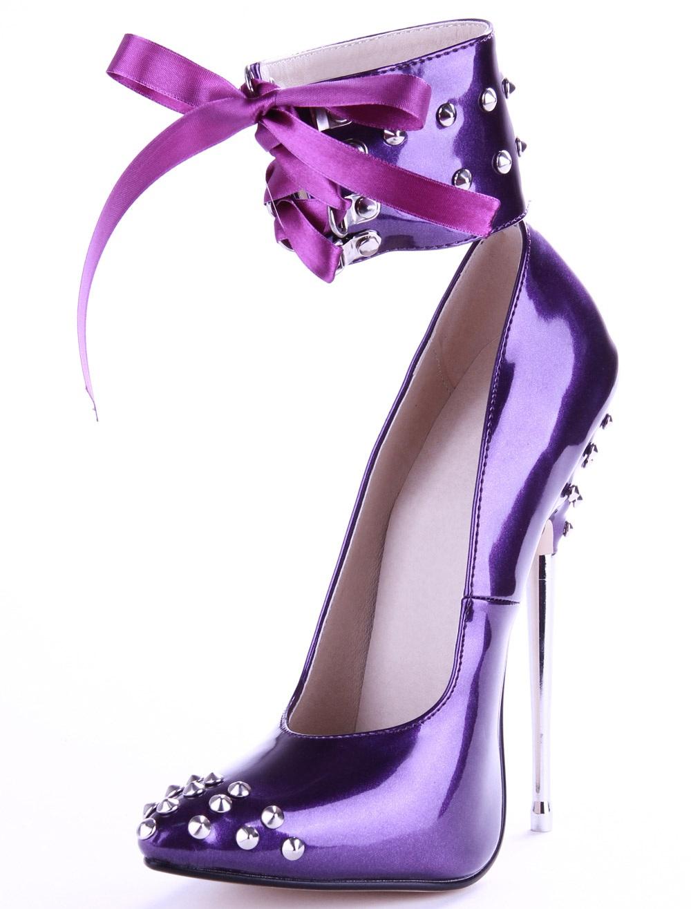 性感高跟鞋 2021新款女夏高跟单鞋 16厘米金属 尖头细跟性感T台走秀拍照女鞋_推荐淘宝好看的女性感高跟鞋