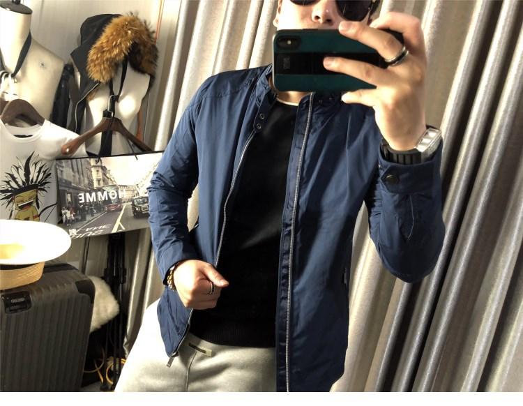 商务夹克 夹克男春秋男士立领商务休闲时尚都市拉链衫领圈拉链设计男装外套_推荐淘宝好看的男商务夹克