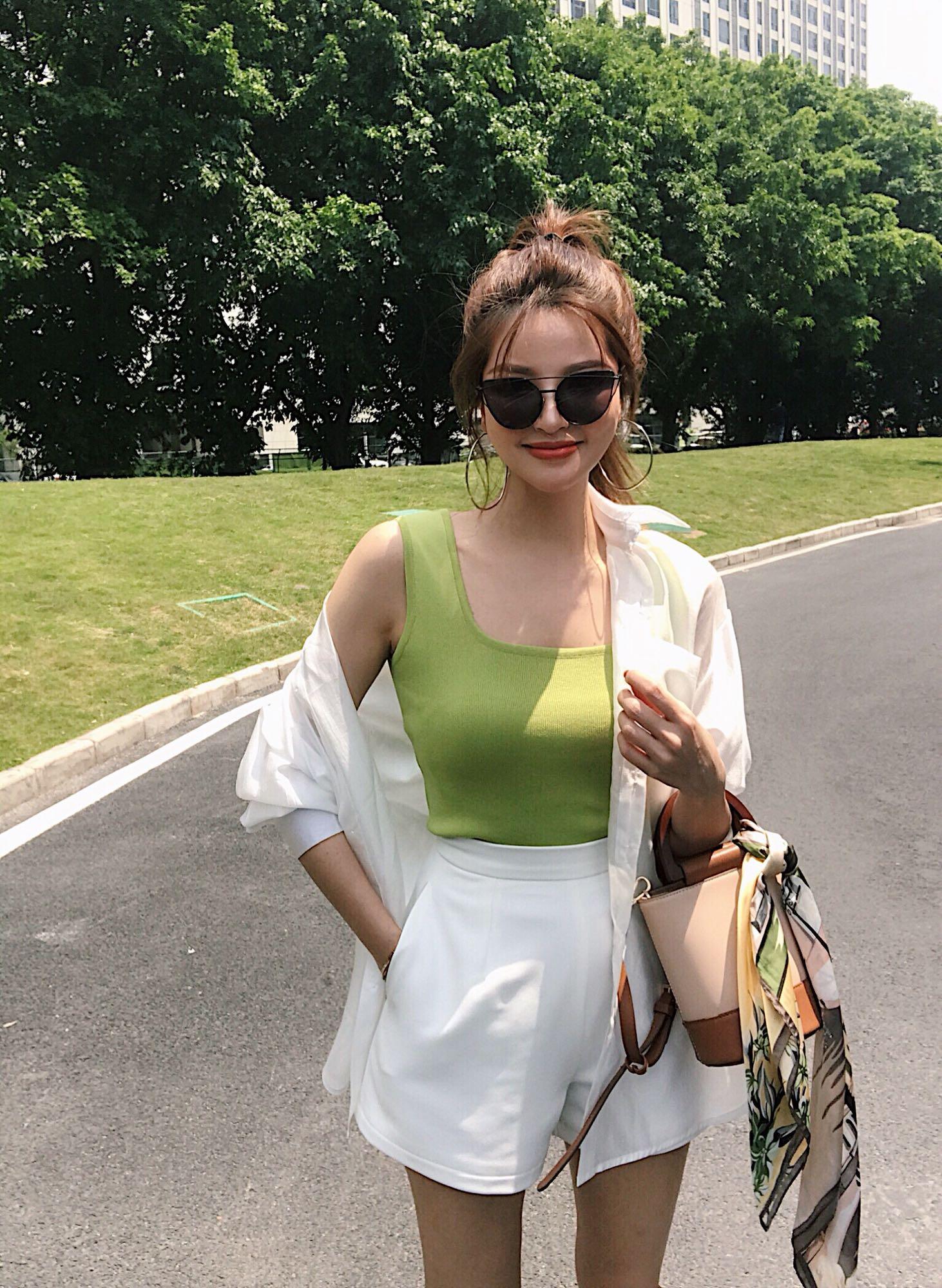 背心 UMI2020夏季新款韩版工字针织背心短款美背式百搭休闲打底外穿女_推荐淘宝好看的女背心