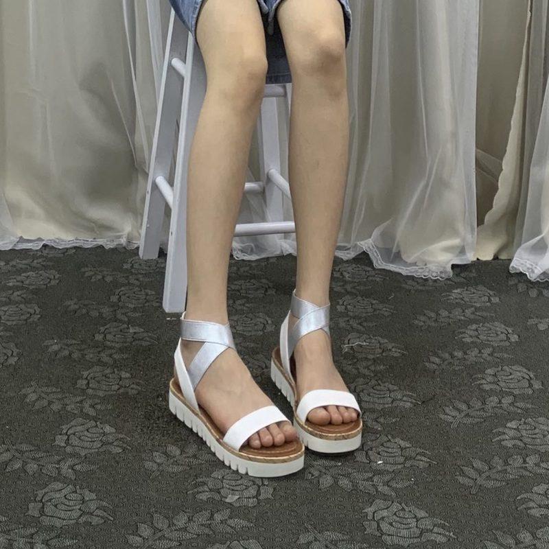 女式鱼嘴鞋 外贸原单女鞋低帮简约时尚朴质平底露趾夏季女凉鞋_推荐淘宝好看的女鱼嘴鞋