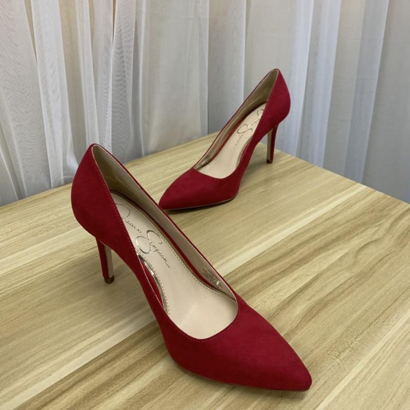 气质小单鞋 外贸原单女鞋红色高跟鞋婚鞋气质女鞋宴会单鞋浅口尖头微瑕特价_推荐淘宝好看的女气质单鞋