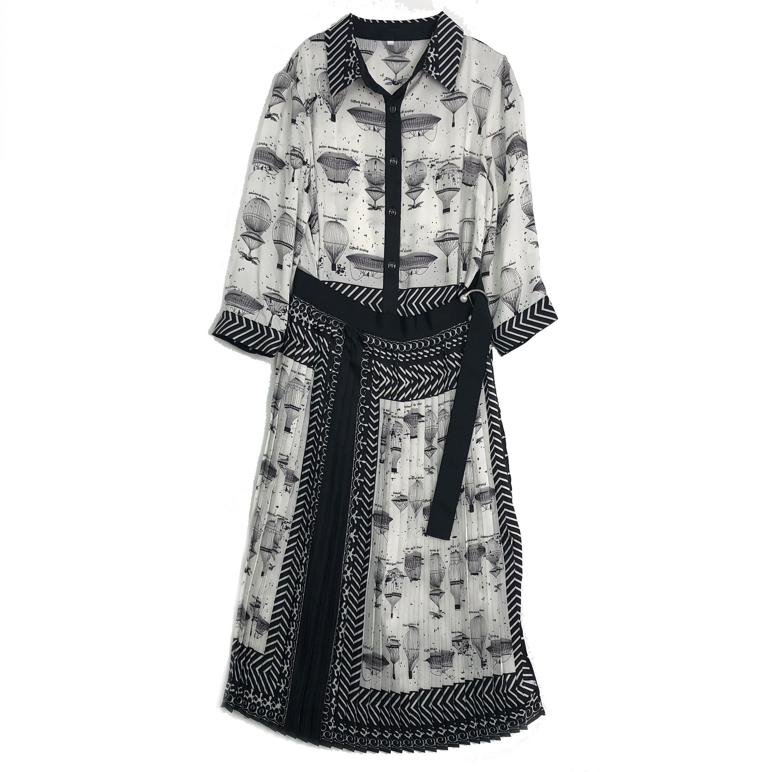 白色蕾丝连衣裙 【蕾丝呗尔】2020新款翻领腰带收腰气质连衣裙HH2016_推荐淘宝好看的白色蕾丝连衣裙