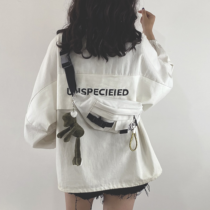 学生帆布包 2020新款包包网红ins日系原宿工装胸包女韩版学生帆布斜挎腰包潮_推荐淘宝好看的女学生帆布包