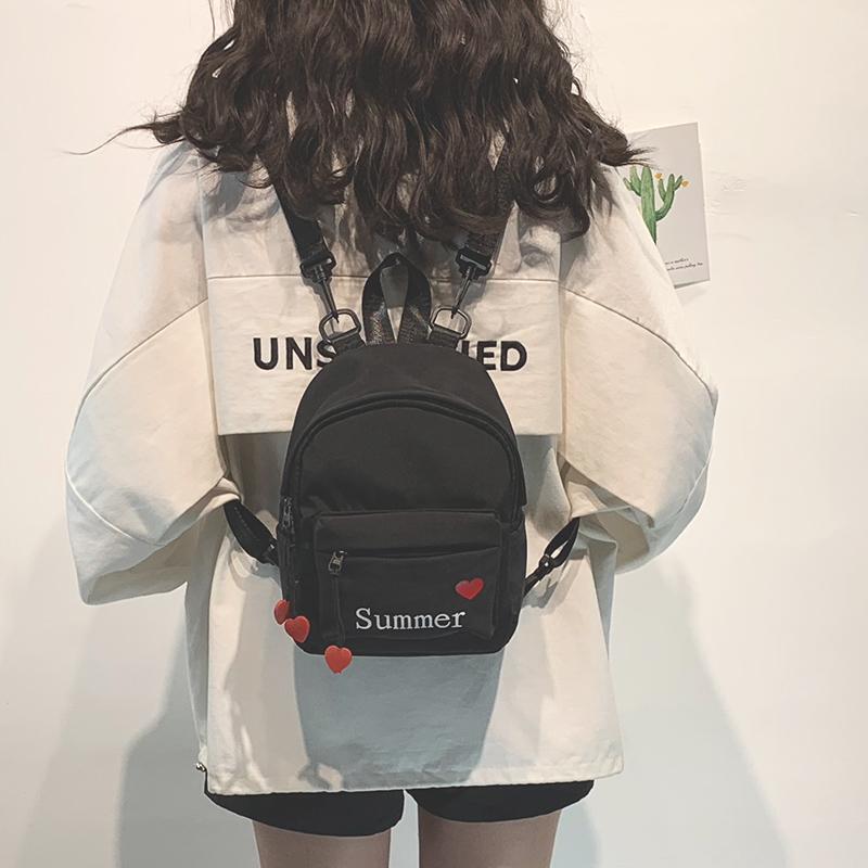 绿色迷你包 韩版上新ins超火双肩包包女2020新款时尚百搭少女迷你旅行小背包_推荐淘宝好看的绿色迷你包