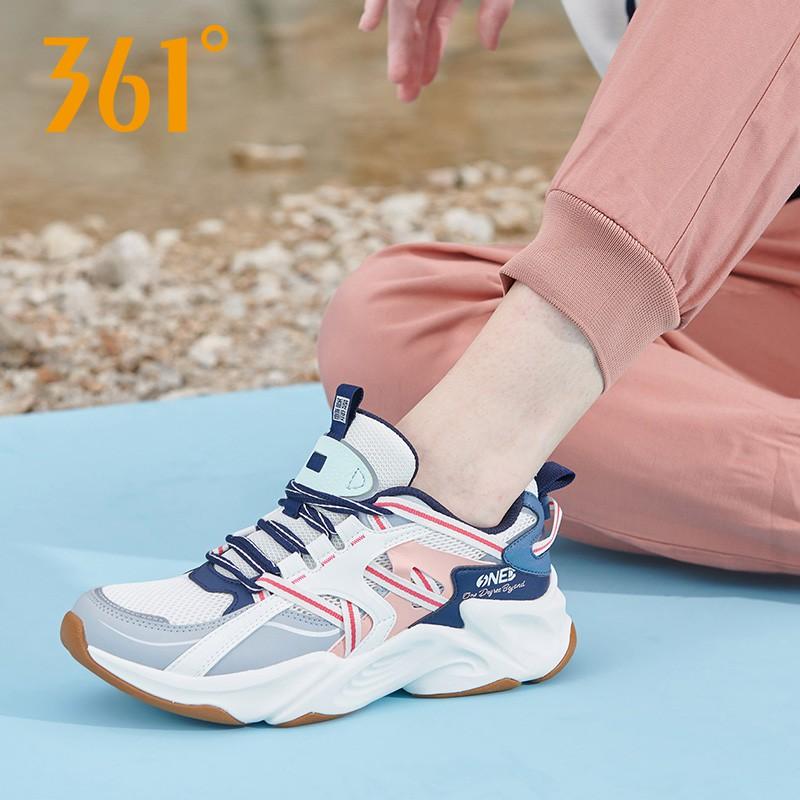 361度女式运动鞋 361女鞋运动鞋女2020秋季新款复古老爹休闲鞋361度网面透气跑步鞋_推荐淘宝好看的女361度女运动鞋