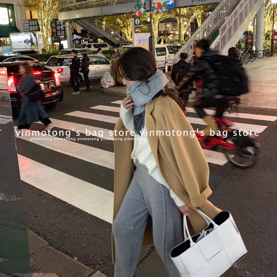 女士复古手提包 网红mona同款法式小众简约复古小香风格子编织购物袋手提托特包女_推荐淘宝好看的女复古手提包
