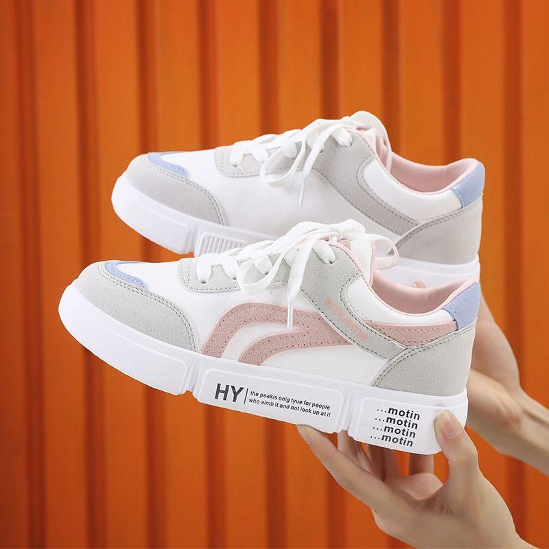 运动鞋 小白鞋女鞋子春秋新款平底运动鞋女学生韩版百搭休闲单鞋板鞋_推荐淘宝好看的运动鞋