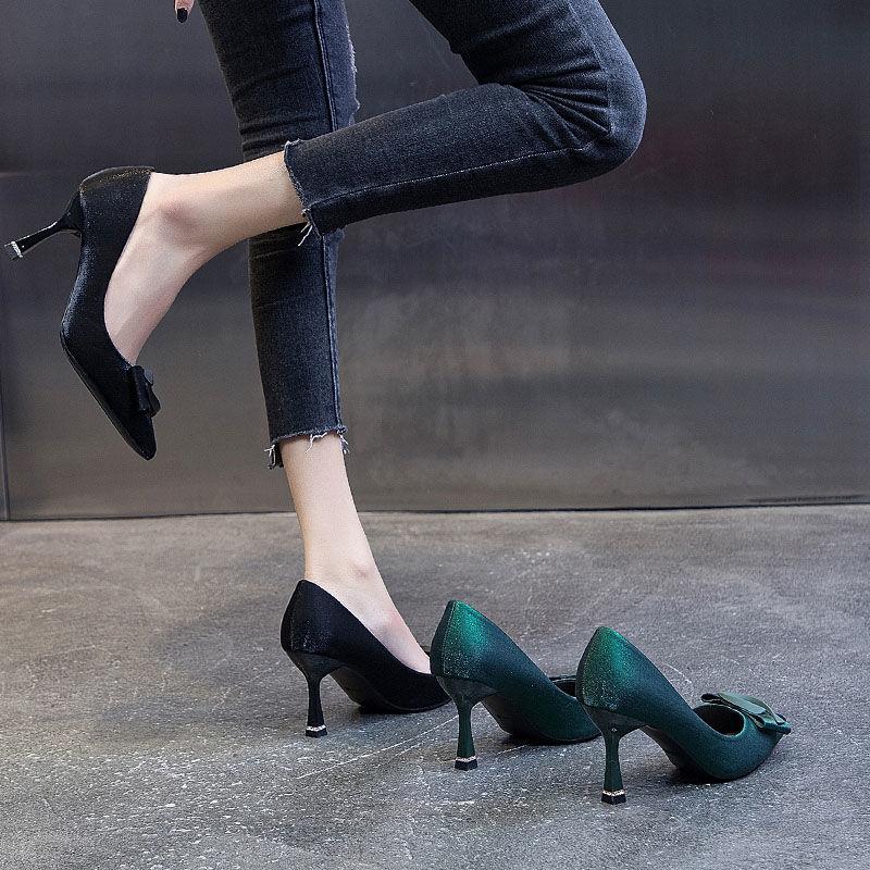 性感高跟鞋 26f单鞋女新款百搭女鞋名媛性感高跟鞋女细跟时尚尖头工作_推荐淘宝好看的女性感高跟鞋