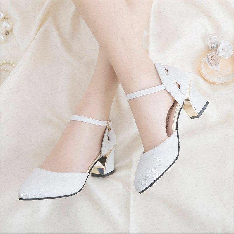 粉红色凉鞋 性感夏凉鞋女女土凉鞋大粉红色百搭黑妈妈新婚秀气可爱半包护士_推荐淘宝好看的粉红色凉鞋
