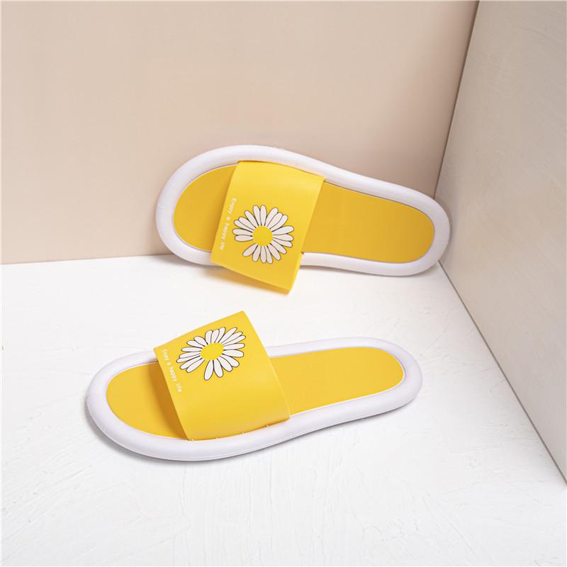 黄色鱼嘴鞋 名流粉红色黄色拼色休闲新款福利夏季鱼嘴拖时尚外潮拖鞋女夏外穿_推荐淘宝好看的黄色鱼嘴鞋