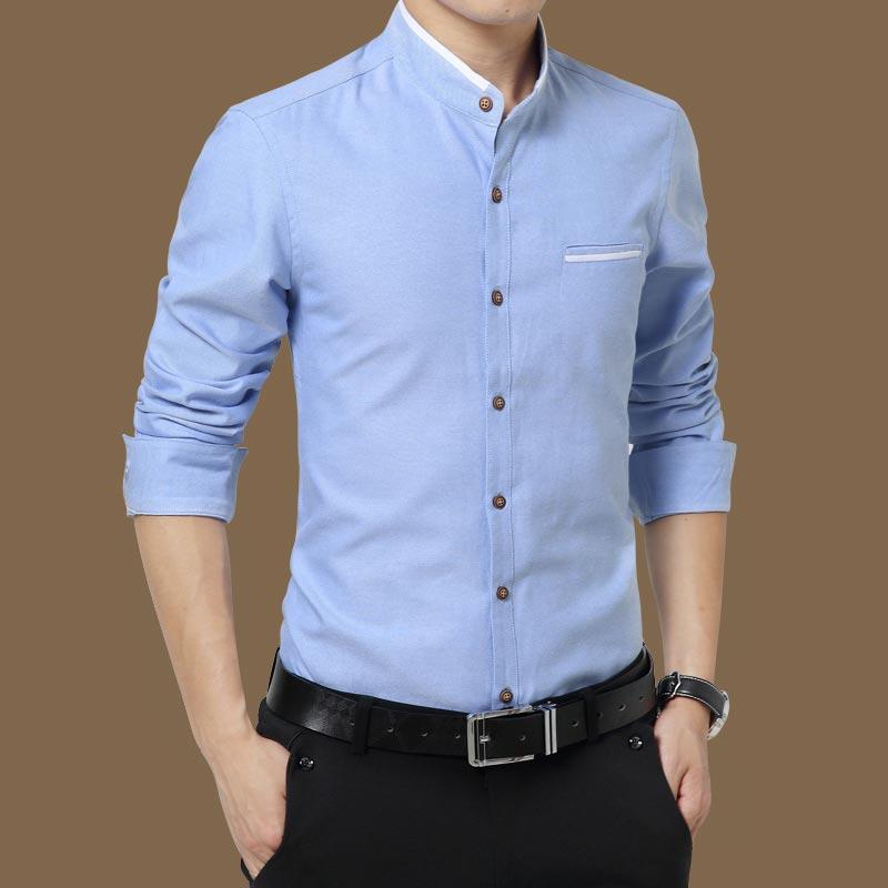 男士衬衫 2020长袖衬衫男伴郎韩版年休闲黑色纯色修身商务男士加绒衬衣_推荐淘宝好看的男衬衫