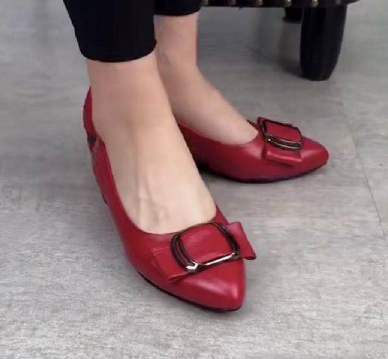 女式平底鞋 2021新款春夏浅口平底单鞋女真皮低跟时尚百搭粗跟小皮鞋春秋女鞋_推荐淘宝好看的女平底鞋