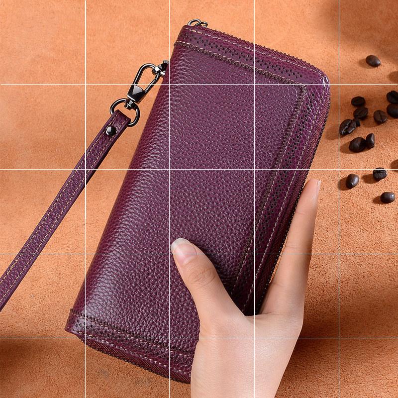 lv最新款钱包 小 CK LV2020新款钱包手拿包手机包牛皮女士长款拉链_推荐淘宝好看的女lv新款钱包