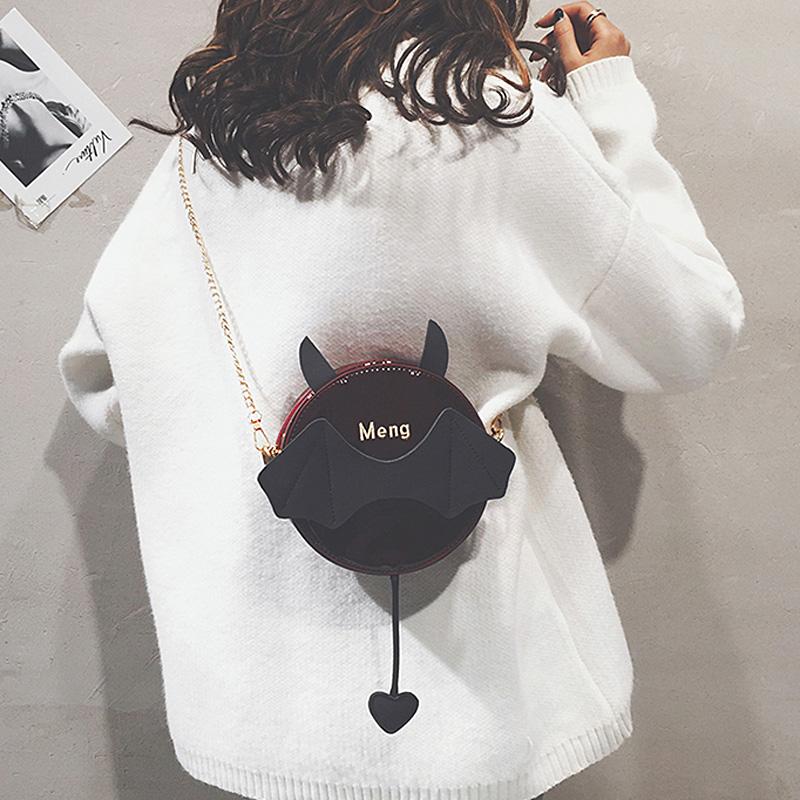 漆皮链条包 可爱小包包女2020春新款韩版少女ins百搭萌漆皮链条单肩斜挎包潮_推荐淘宝好看的女漆皮链条包
