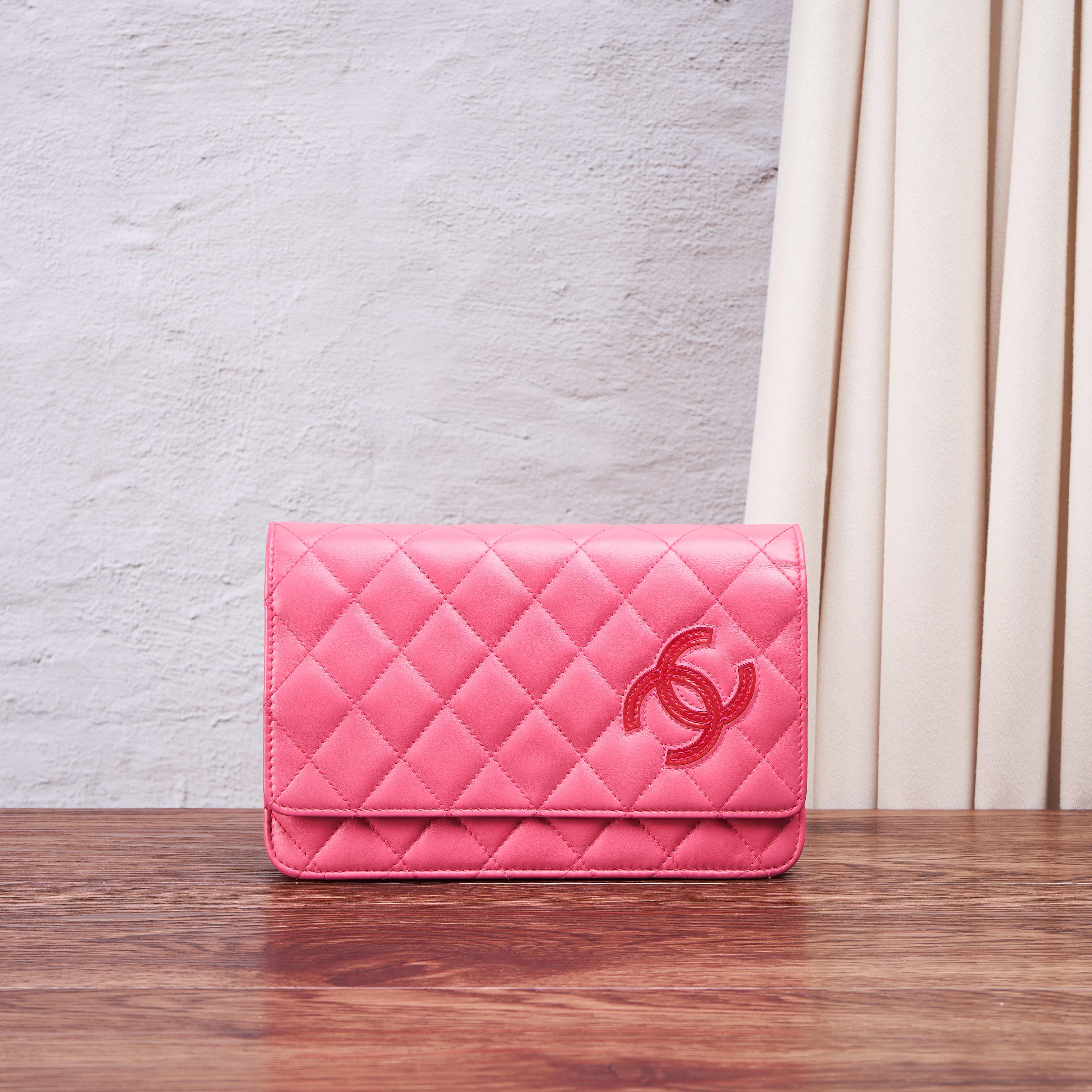 chanel链条包 【95新】Chanel香奈儿 粉色woc链条包 19*12 公价¥16700_推荐淘宝好看的chanel链条包