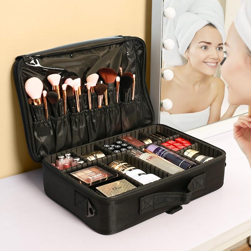 彭丽媛手提包 大容量化妆包女便携旅行化妆品收纳包2020新款超火专业师手提箱盒_推荐淘宝好看的女手提包