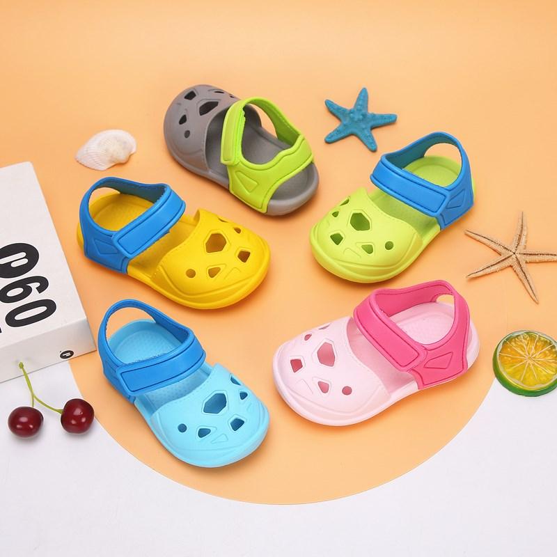 沙滩凉鞋 女童凉鞋1-3岁2宝宝儿童洞洞鞋可爱软底沙滩鞋塑料卡通防滑拖鞋男_推荐淘宝好看的女沙滩凉鞋