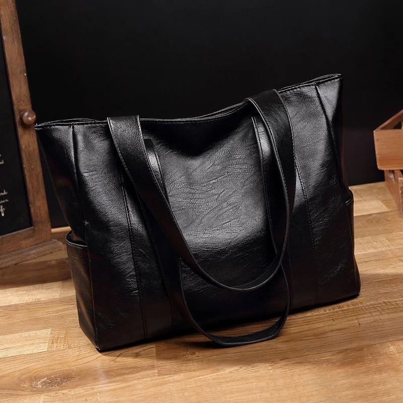 女式真皮手提包 F3【真皮质感】妈妈女包2020新款百搭手提包挎包单肩简约大包包_推荐淘宝好看的女真皮手提包