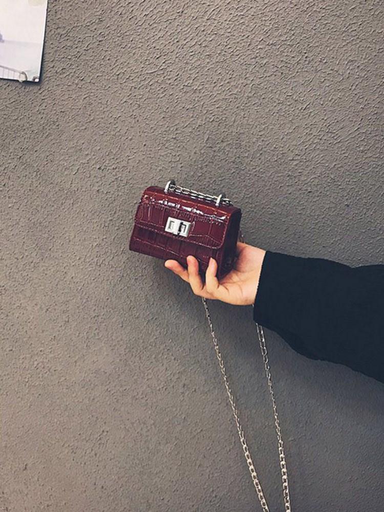 漆皮链条包 法国小众高级感网红迷你漆皮小包包女包新款2021时尚爆款链条斜挎_推荐淘宝好看的女漆皮链条包