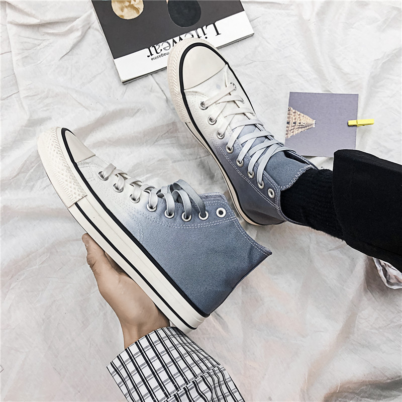 匡威涂鸦帆布鞋 春季联名匡威STAR男鞋1970s高帮渐变色帆布鞋韩版手绘涂鸦板鞋女_推荐淘宝好看的女匡威涂鸦帆布鞋