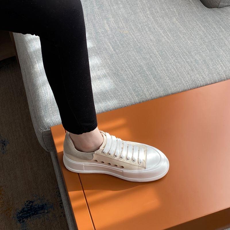 匡威新款帆布鞋 尔匡威莱斯帆布鞋松糕厚底小白鞋女2021年春新款饼干鞋百搭板鞋_推荐淘宝好看的女匡威新款帆布鞋